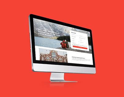 "Shutterstock Custom ""Travel"" Landing Page"