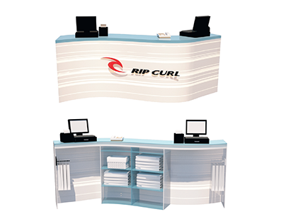 Shop Counter of Rip Curl Store