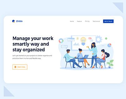 Zinble - Task Management Landing Page