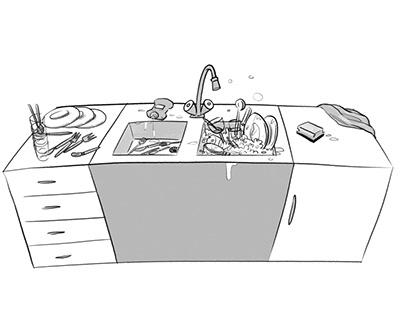 Hauswirtschafts-Illustrationen