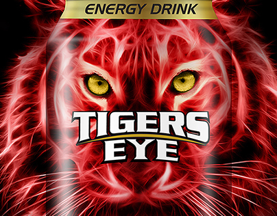 Tigers Eye Energy Drink Packaging Design