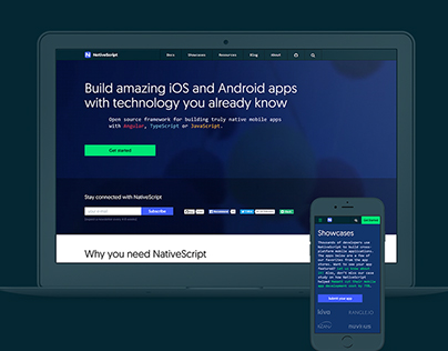 Website for mobile developers