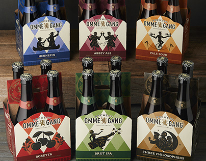 Brewery Ommegang Beer Bottle, Can, Tap Handle, Logo