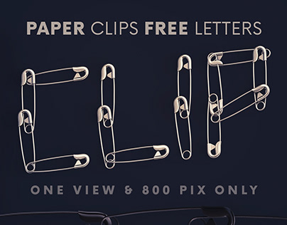 Paper Clips - Free 3D Lettering