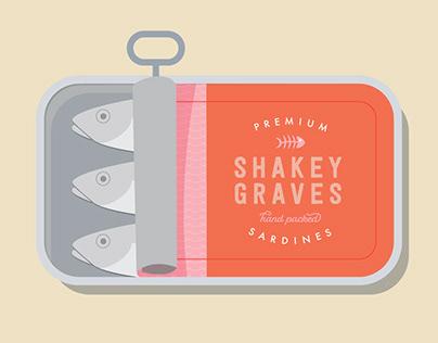 Shakey Graves Sardine Can Illustration