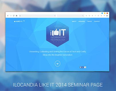 I LIKE I.T. '14 Seminar Page