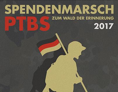 Spendenmarsch PTBS / Plakatgestaltung