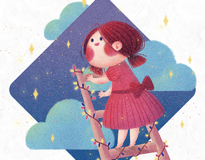 Little Girl and Stars