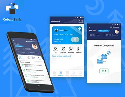 Cobalt Banking Mobile App Concept UI