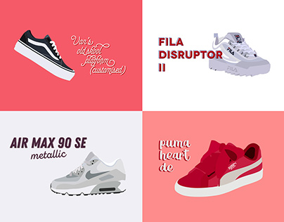 Sneaker Project | Illustration, Typographie