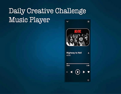 XD Daily Creative Challenge - Music Player