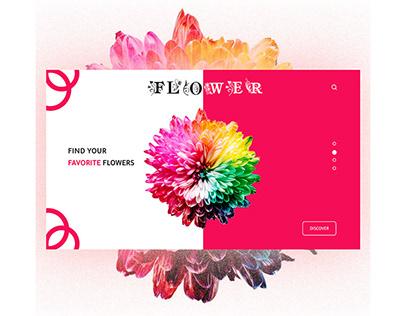 Flower web page