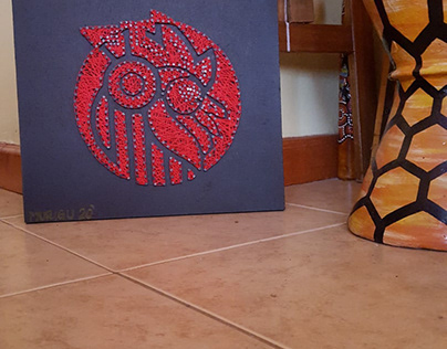 SOL GENERATION LOGO STRING ART