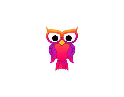 colorfull owl logo
