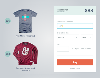 Payment Form - PSD & Sketch