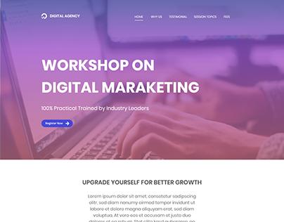 WEB UI - Lead Generation Landing page
