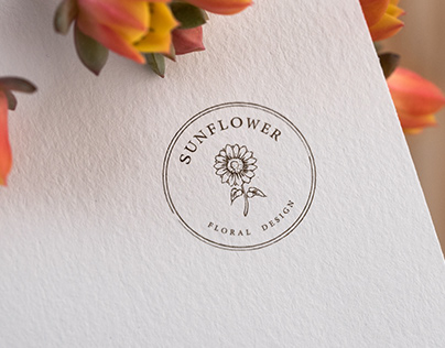 商業平面視覺設計 主視覺Logo&名片&相關產品設計 主題:SUNFLOWER花店
