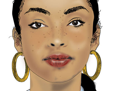 Digital Illustration /painting Artist : singer (Sade)
