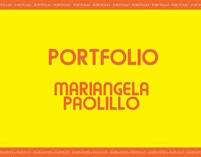 Portfolio 2020 - Mariangela Paolillo