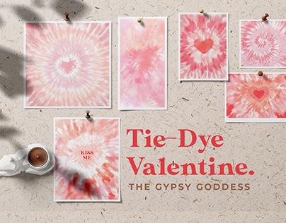 Tie-Dye Valentine Postcards