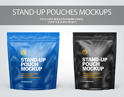 Stand-up Pouches Mockups PSD