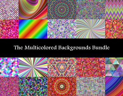 The Multicolored Backgrounds Bundle