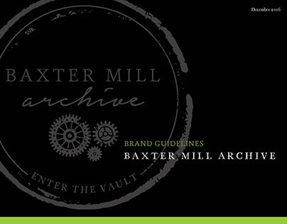 Baxter Mill Archive Logo | Branding