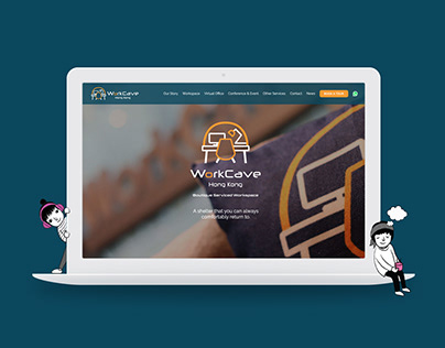 WorkCave coworking space   UI UX Web Design