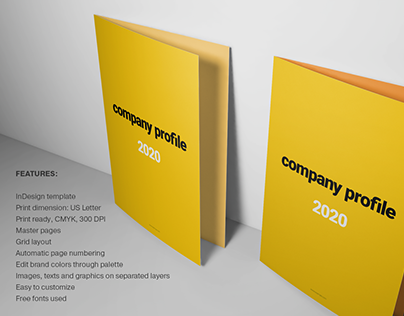 Yellow Brochure Layout