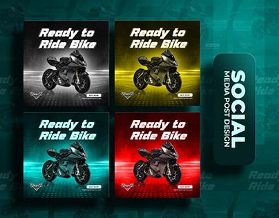 Bike Social Media Banner   Social Media Post