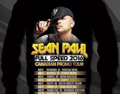 Sean Paul Canadian Promo Tour