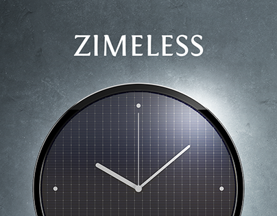 Zimeless - minimalistic solar-powered wall clock