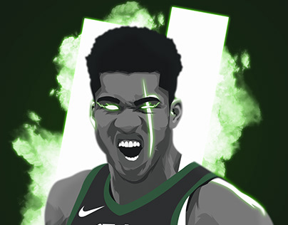 Giannis Antetokounmpo Wallpaper Projects Photos Videos Logos Illustrations And Branding On Behance