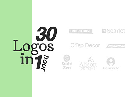 30 Day logo challenge + (Done in 1 hour)