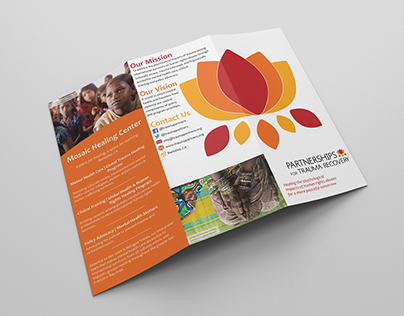 Partnerships for Trauma Recovery Brochure Design