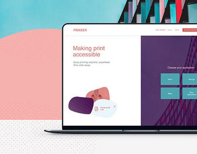 Prinder. Web app to print anywhere