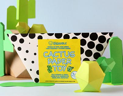 Cactus Paper Toy Series