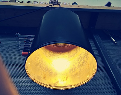 Illy coffee can Lamp
