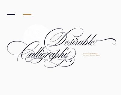 Desirable Calligraphy