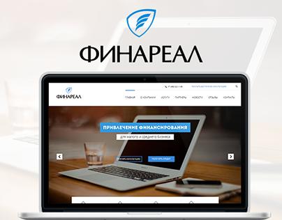 Finance company main page design
