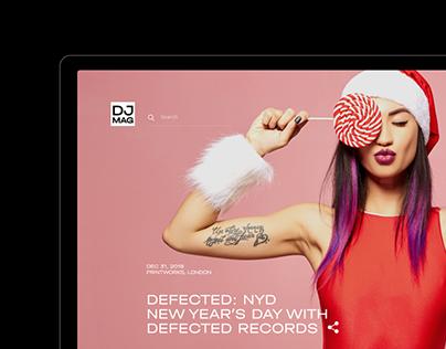 DJ Mag - Magazine redesign