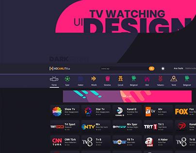 Canlı TV UI Design