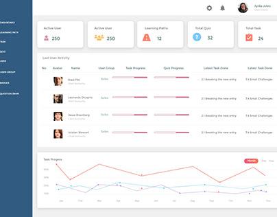 UI/UX Design test for online course