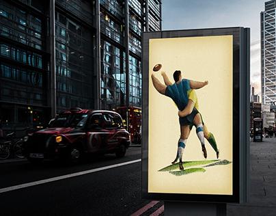 Australian Rugby. Vintage Poster