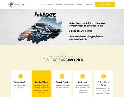 Car Rental Website Layout
