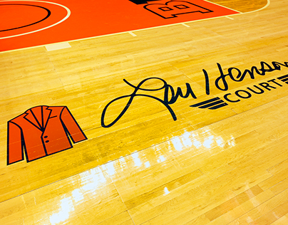 Lou Henson Court Logo & Collateral