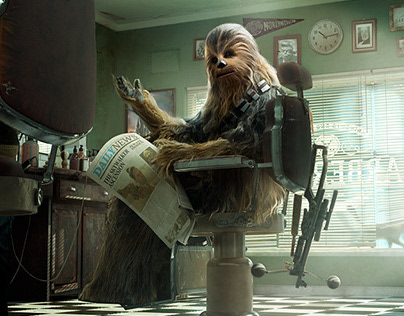 UNUSUAL HAIRCUT - CHEWBACCA
