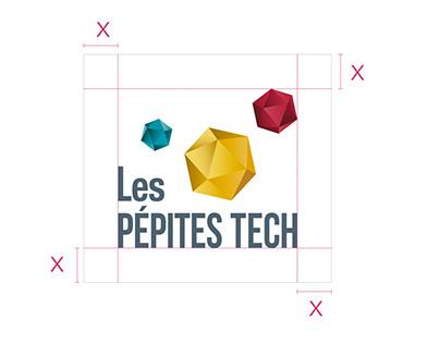 Création d'identité / Branding - Les PÉPITES TECH
