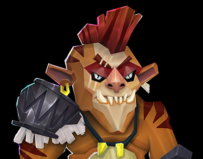 Stylised character : low poly orc