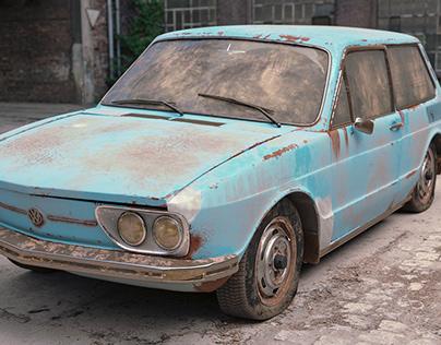 3D - VW Brasilia Abandoned